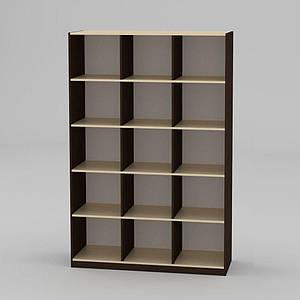 Книжкова шафа Компаніт КШ-3 1950x1300x448 мм венге