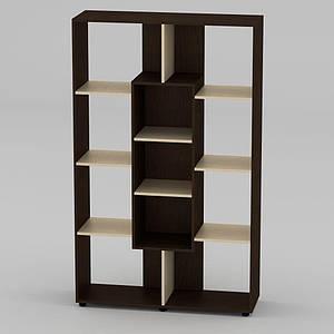 Книжный шкаф Компанит КШ-4 1796x1100x350 мм венге
