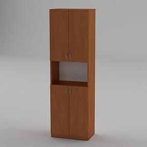 Книжкова шафа Компаніт КШ-5 1950x600x366 мм вільха