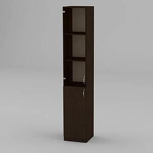 Книжкова шафа Компаніт КШ-9 1950x366x350 мм венге