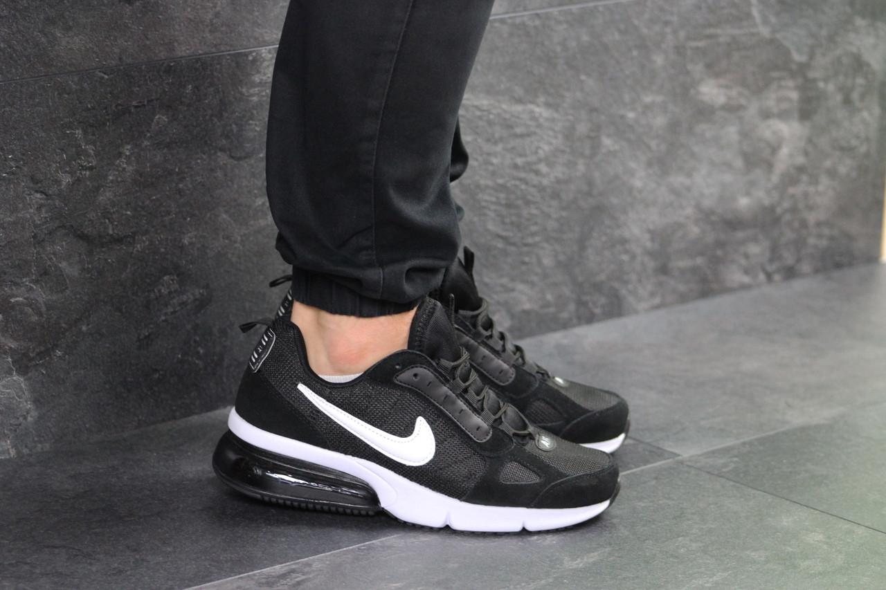 Кроссовки найк демисезонные повседневные черные белые (реплика) Nike Black White