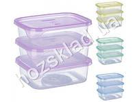 Набор емкостей для пищевых продуктов, цвета ассорти 300мл (цена за набор 3шт)