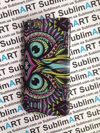 Дизайнерский чехол ручной работы для Iphone 6 soft-touch (Сова), фото 2