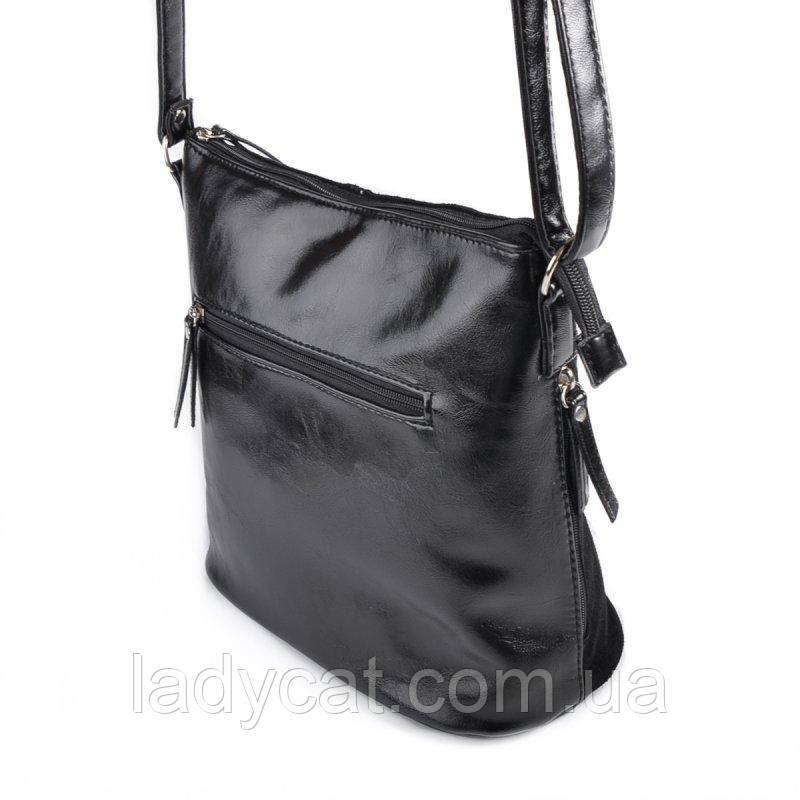 4174abb41c72 Женская замшевая сумка через плечо цвет черный: продажа, цена в ...