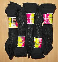 Носки женские капроновые черные с тормозками 10 пар пучок 003
