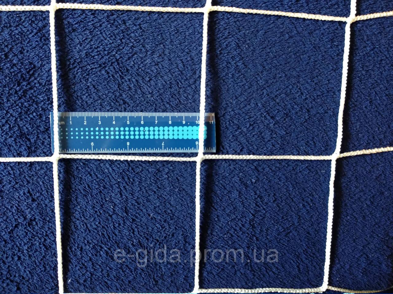 Сітка безвузлова 80х80 поліамід 2.8мм Сетка безузловая заградительная защитная 80