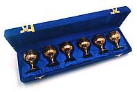Бокалы из бронзы позолоченные (набор из 6 шт.)