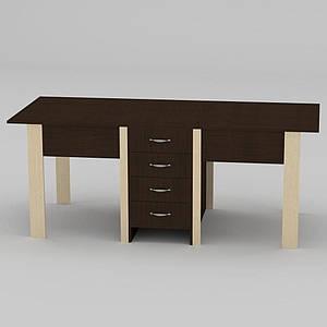 Кухонный стол-книжка-3 Компанит 500-1900х800х750 мм лдсп