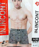 Мужские трусы боксеры IN INCONT (уп. 24шт) 7561