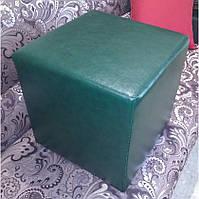 Пуф квадратный Стенли Зелёный,пуфик,пуфики,пуф кожзам,пуф экокожа,банкетка,банкетки,пуф куб,пуф фото, фото 2