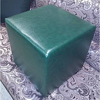Пуф квадратный Стенли Зелёный,пуфик,пуфики,пуф кожзам,пуф экокожа,банкетка,банкетки,пуф куб,пуф фото, фото 4