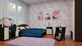 Спальня Компанит венге двухместный набор 5 шт дсп