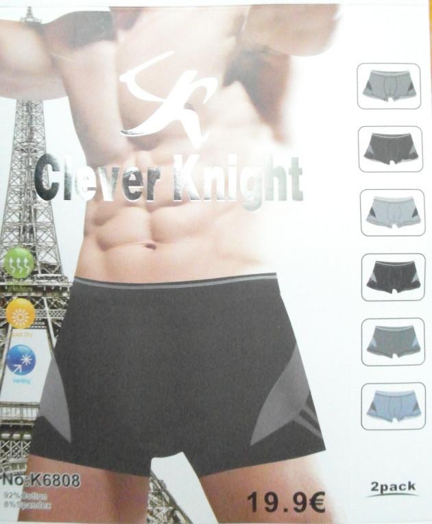 Мужские трусы боксеры  Clever Knight Cotton (уп. 24шт) K6808