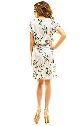 Платье 413 с кулиской серая полоска размер 50-52, фото 2