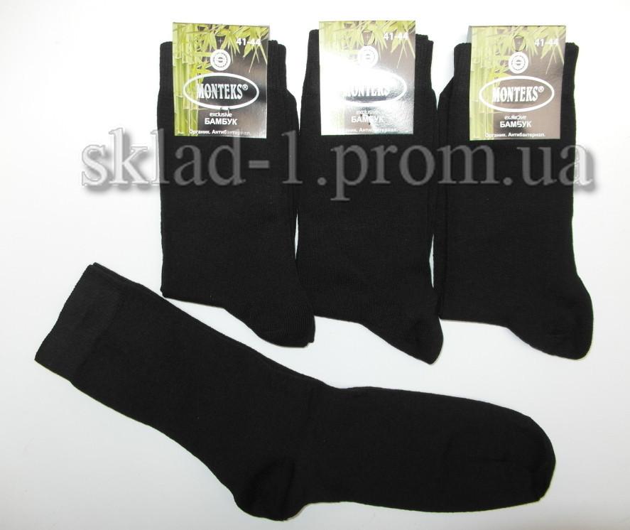 Носки мужские бамбук Monteks 41-44 черные  12 пар уп 0215
