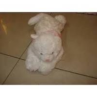 Мягкая игрушка озвученая Кот белый пушистый №5, отличные подарки детям и девушкам , отличный подарок