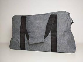 Мужская текстильная спортивная сумка с плечевым ремнем 47*28*17 см, фото 2