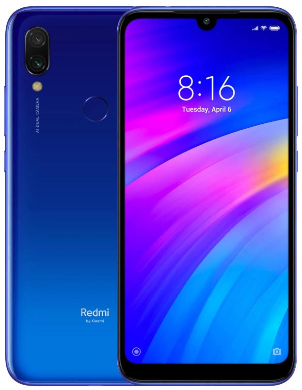 "Xiaomi Redmi 7 Blue 3/64 Gb, 6.26"", Snapdragon 632, 3G, 4G (Global)"