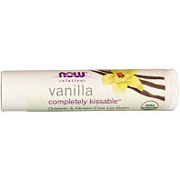 Completely Kissable, Solutions, Бальзам для губ, ваниль, 4.25 г, Now Foods