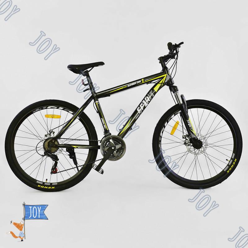 """Велосипед Спортивный CORSO SPIRIT 26""""дюймов JYT 001 - 2261 BLACK-YELLOW"""