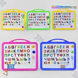 Досточка для рисования магнитная большая С 36511 (72) русский алфавит, маркер, губка, 4 цвета