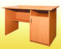 Стол письменный 1-тумбовый с дверцей
