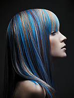 Цветной спрей для волос FLUO синий