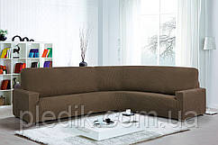 Чехол натяжной на Угловой диван Испания, Glamour Ante Rinconera коричневый