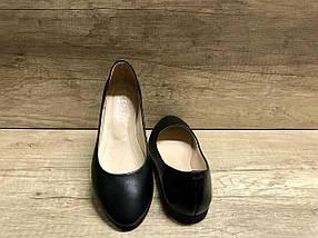 Классические кожаные балетки на низком ходу  KENTO 0010, фото 2