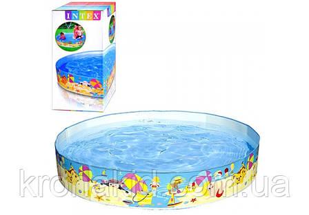 """Каркасный детский бассейн INTEX 56451 NP  """"Веселый пляж"""" размер 152*25 cm,  обьем воды 370 L., фото 2"""