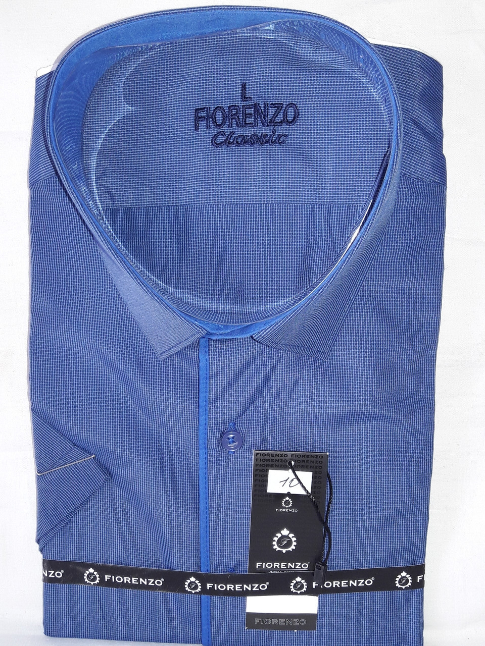 4a4e792fd95 Рубашка мужская с коротким рукавом vk-0010 Fiorenzo - Магазин Рубашек VIK в  Запорожье