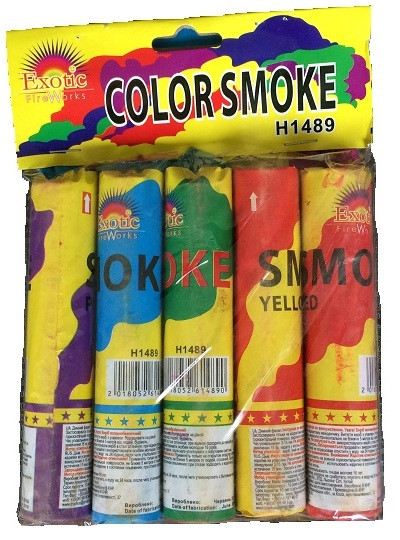 Цветной дым набор 5 шт Color Smoke H 1489