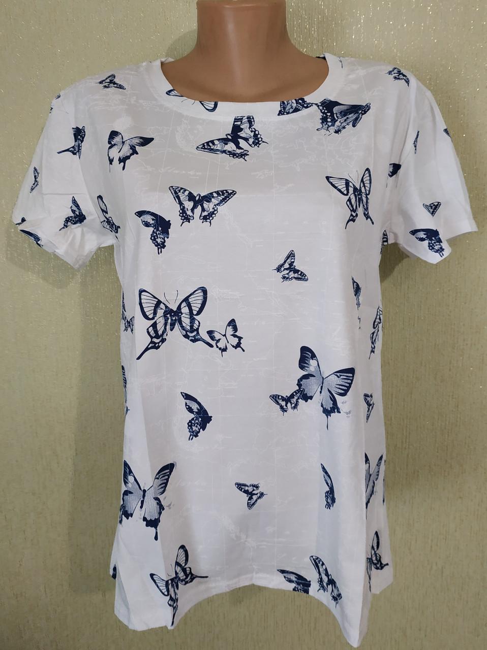 Молодежная женская футболка БАБОЧКИ