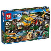 """Конструктор Lepin 02085 """"Вертолёт для доставки грузов в джунгли"""" (аналог Lego City 60162), 1400 дет"""