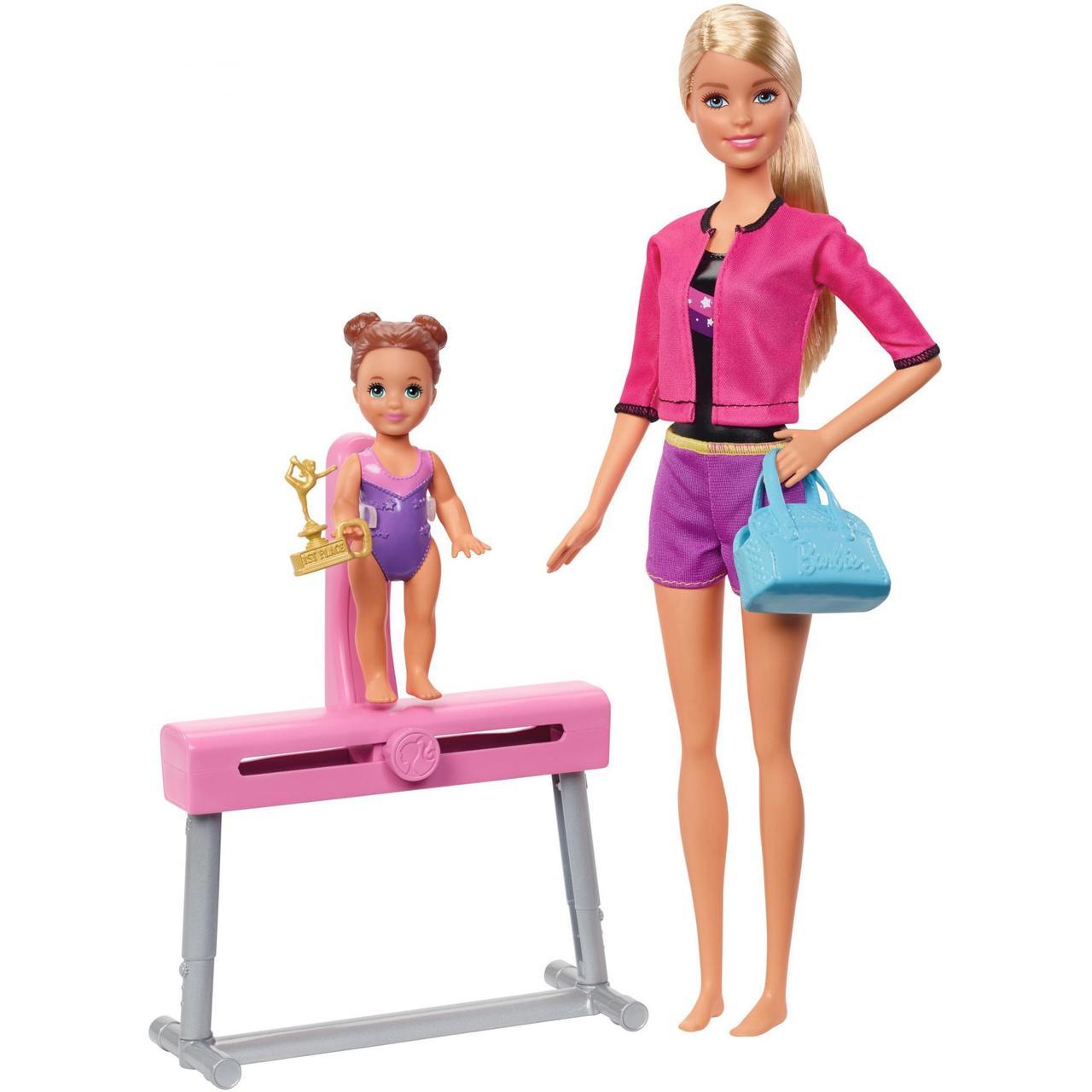 Барби тренер по гимнастике Barbie Gymnastics Coach & Student Doll Balance Beam Playset