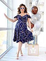 Летнее платье-халат на запах, фото 1
