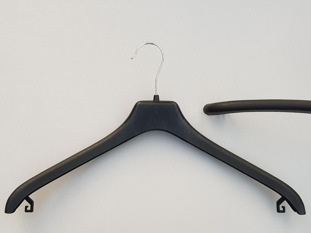 Плічка вішалки тремпеля V-P2 чорного кольору, довжина 45 см