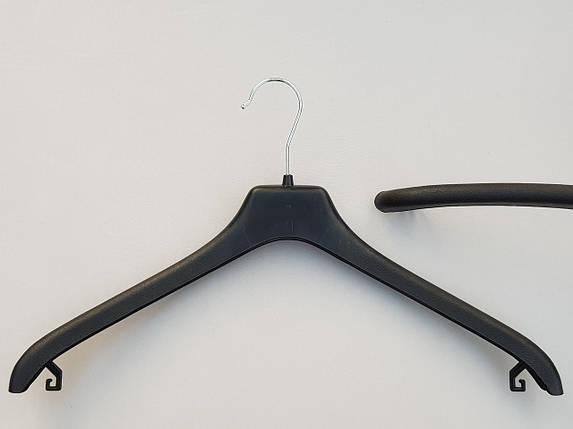 Плічка вішалки тремпеля V-P2 чорного кольору, довжина 45 см, фото 2