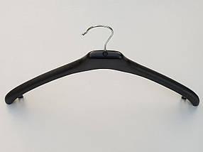 Плічка вішалки тремпеля V-P2 чорного кольору, довжина 45 см, фото 3