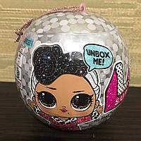 Набор оригинал кукла L.O.L. LOL Surprise BlingЛол новогодний блестящий сюрприз шар на елку, фото 1