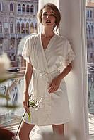 Шикарный халат с кружевом Anabel Arto (шампань) Размер 42, 44