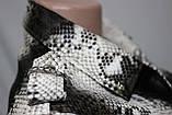 Куртка короткая женская, эко-кожа, под змеиную кожу, фото 4