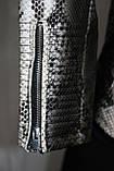 Куртка короткая женская, эко-кожа, под змеиную кожу, фото 8