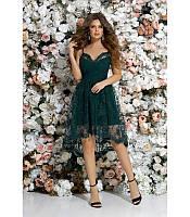 fadb19e97ff97cb Вечернее платье с пышной асимметричной юбкой 42-46 размера изумрудное