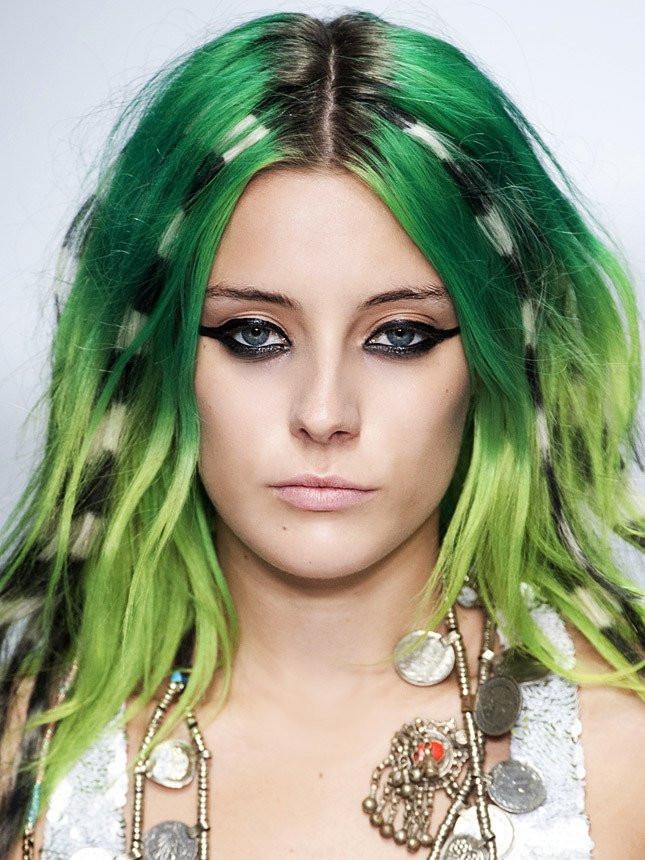 Цветной спрей для волос FLUO зеленый