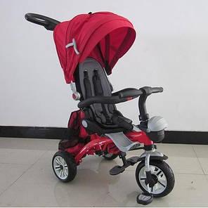 Детский трехколесный велосипед Turbo Trike М 2733А темно-красный, фото 2