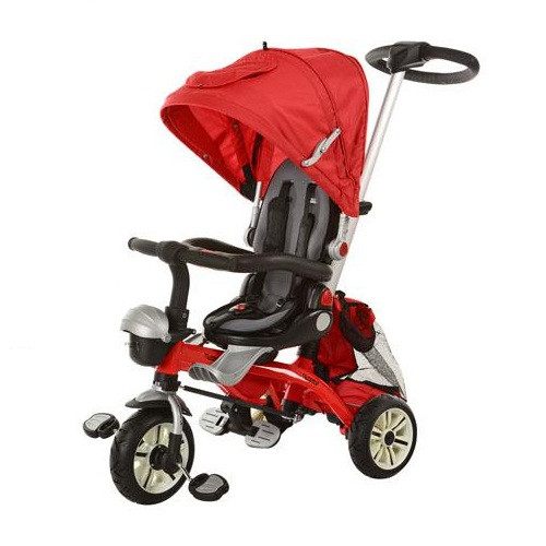 Детский трехколесный велосипед Turbo Trike М 2733А темно-красный