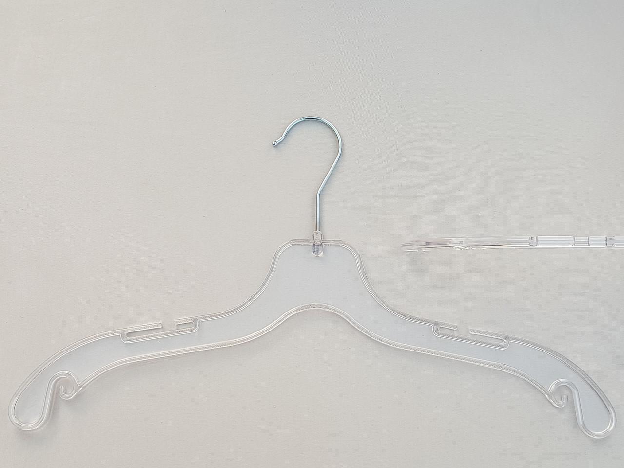 Плечики  вешалки  тремпеля V-UE43 прозрачного цвета, длина 43 см