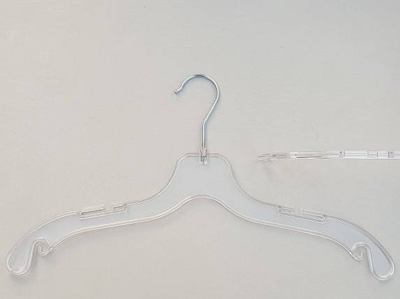 Плечики  вешалки  тремпеля V-UE43 прозрачного цвета, длина 43 см, фото 2