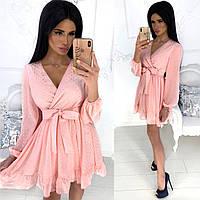Легкое женское летнее шифоновое платье
